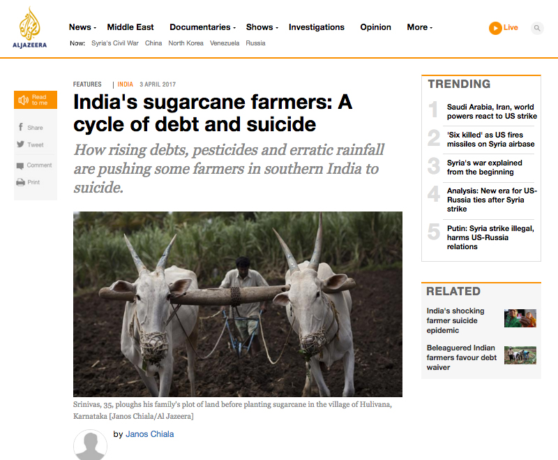 Al Jazeera English: The bitter taste of Sugarcane. (April 2017) link to story
