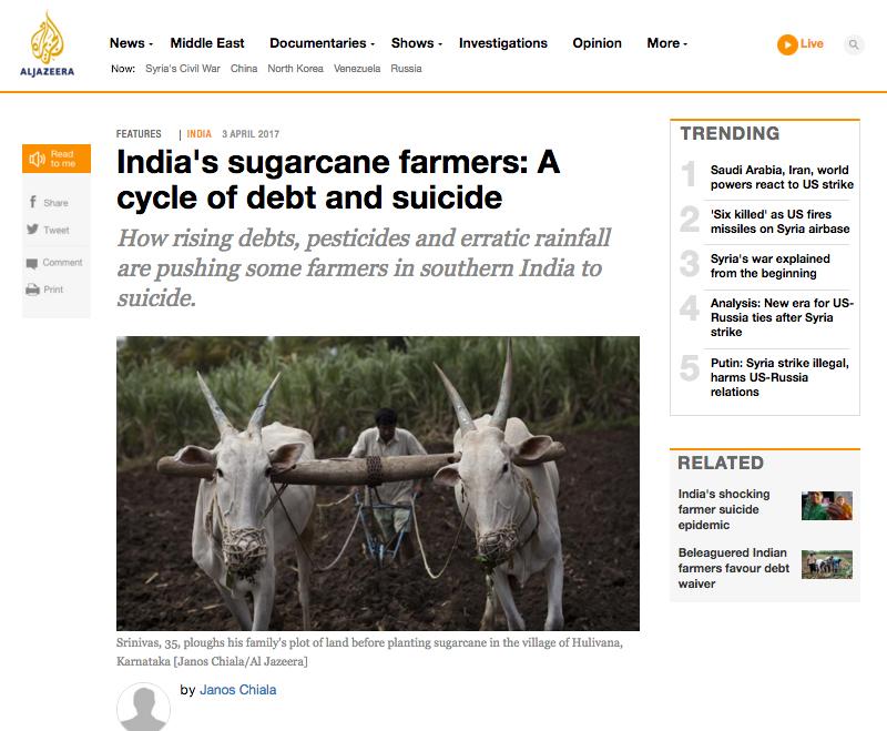 Al Jazeera English: The bitter taste of Sugarcane. (April 2017) link to article
