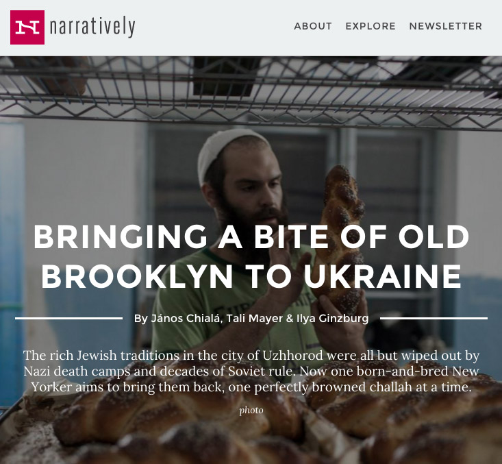Narrative.ly: The baker of Uzghorod. (April 2016) link to story
