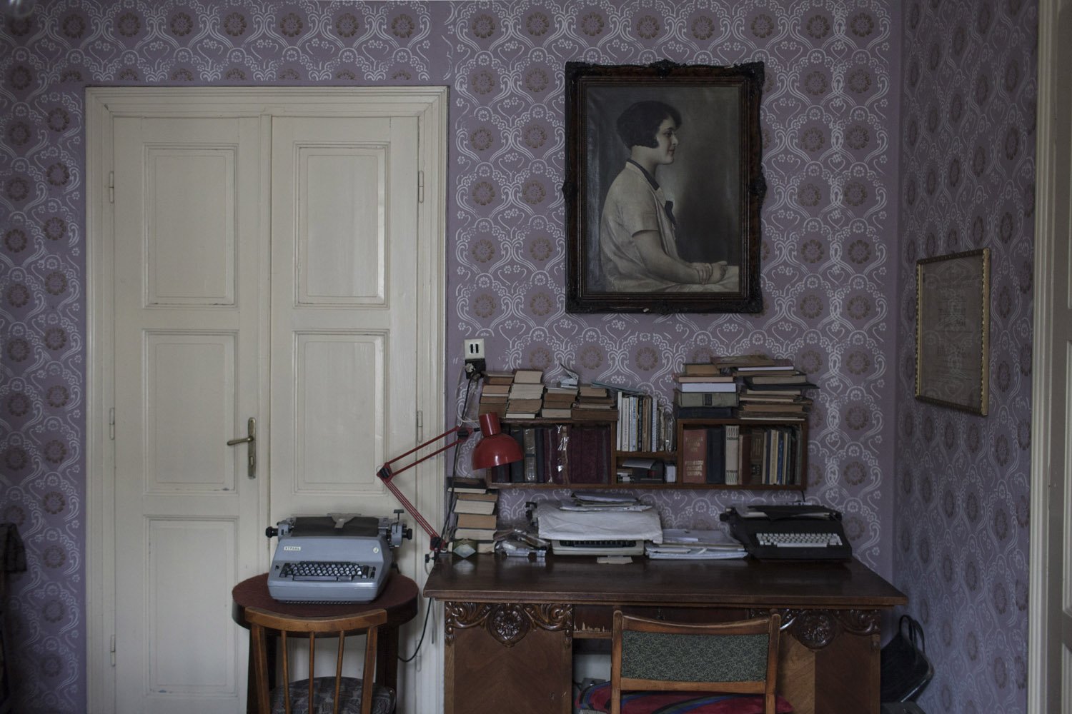 When the Jews of Khust were ordered to move into a ghetto, the Klein family fled into hiding in Budapest. Upon their return they found their house still standing, and one of them still lives there, a portrait of his mother hanging in the living room.