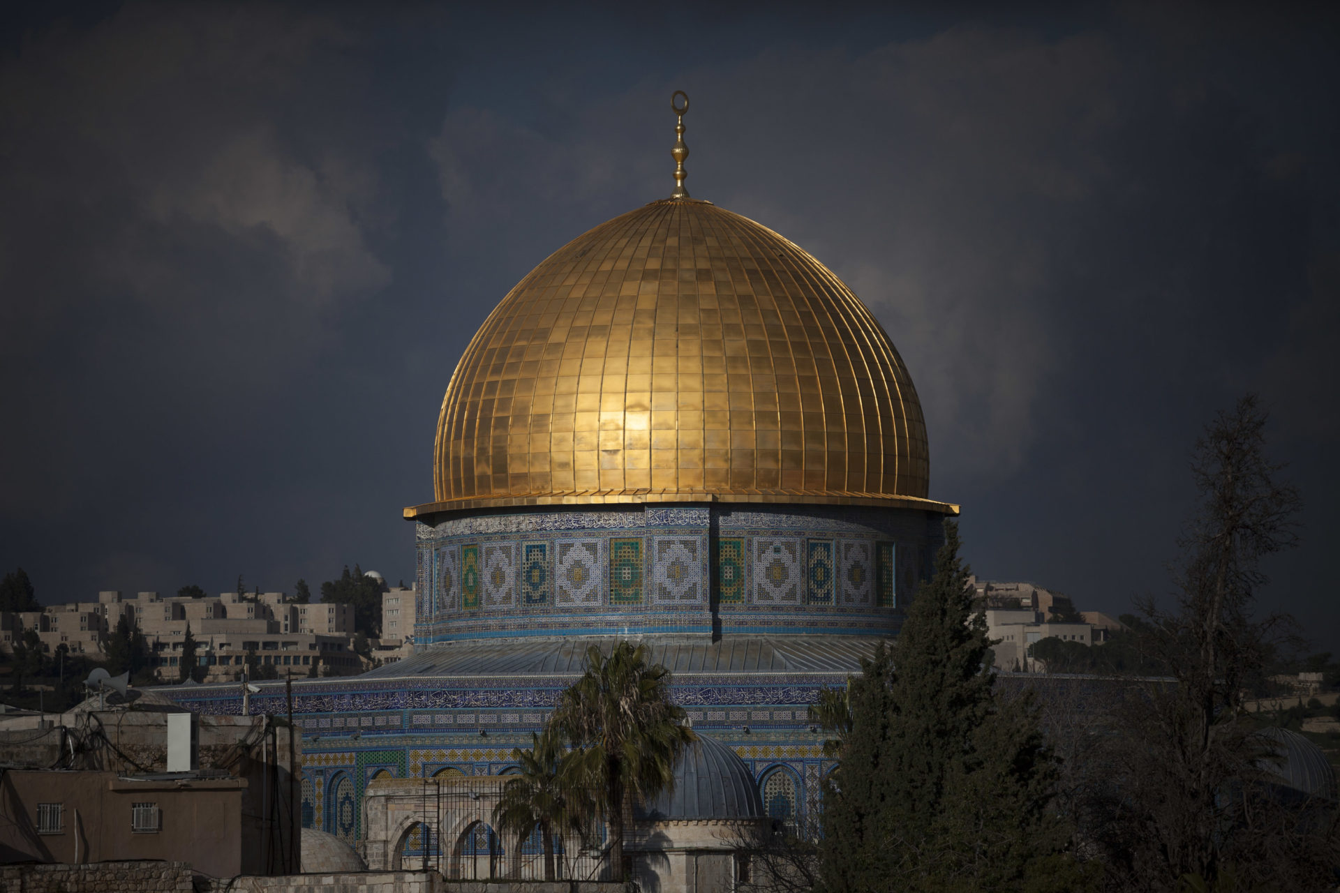The Dome of the Rock. Built in the 7th century by the caliph Abd al-Malik to mark his victory in a civil war, the shrine is located on the site of the former Jewish temple.