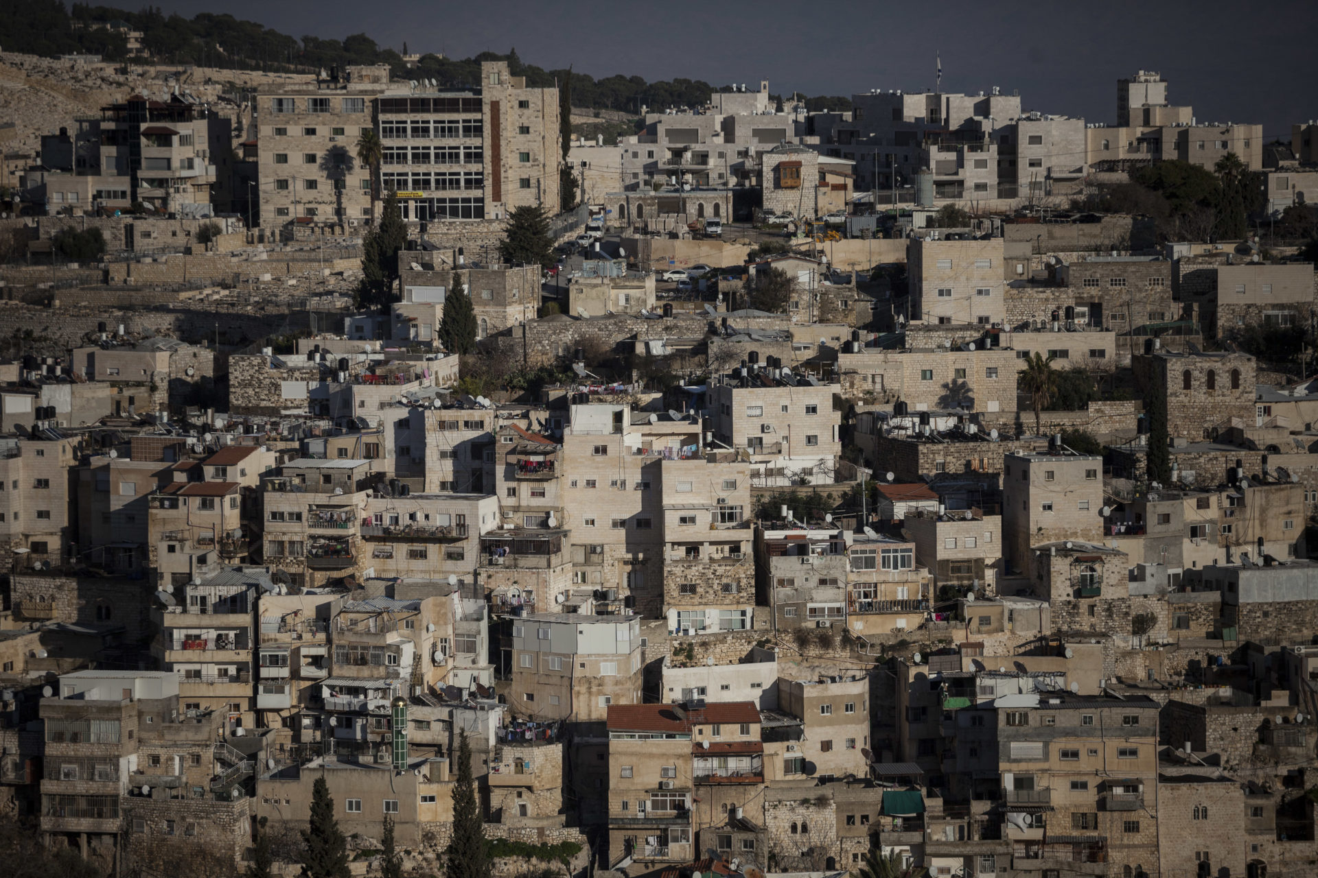 The neighbourhood of Silwan seen from the Old City's ramparts.