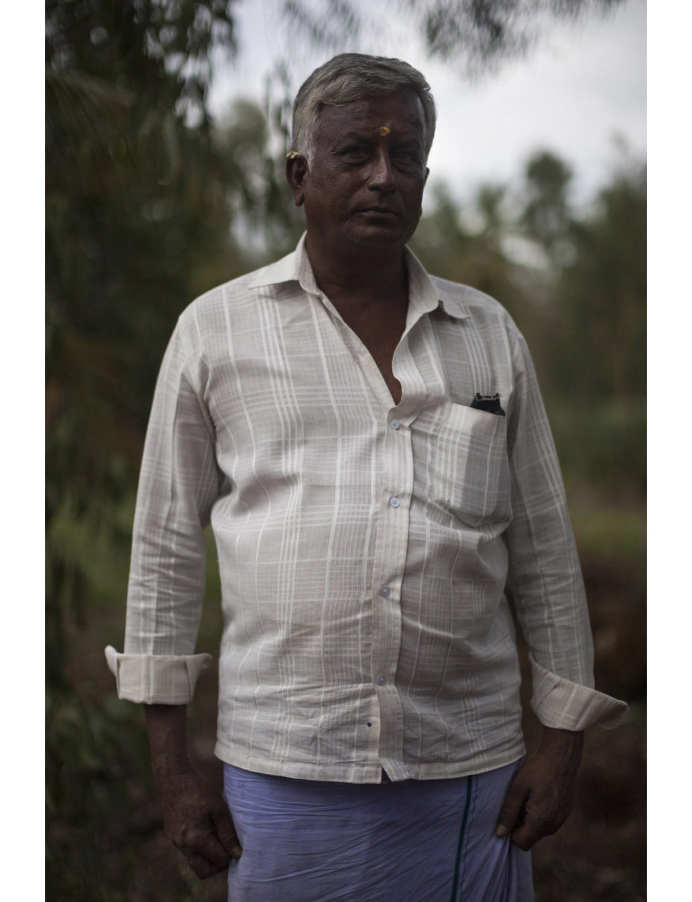 Basvegowda (49), a sugarcane farmer from the village of Hanmanth Nagar. His debts amount to 1 lakh rupees (1,400 euros).