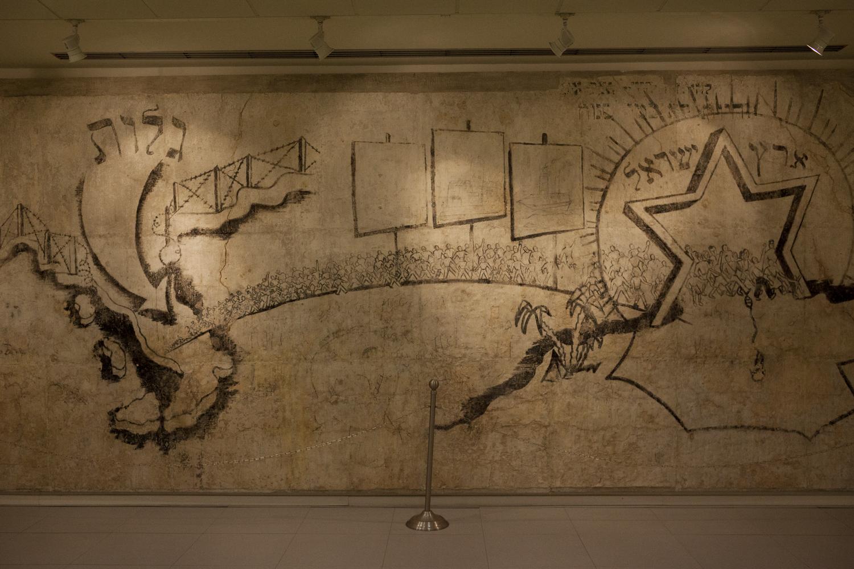 Zvi Miller's wall paintings at the museum of Santa Maria al Bagno.