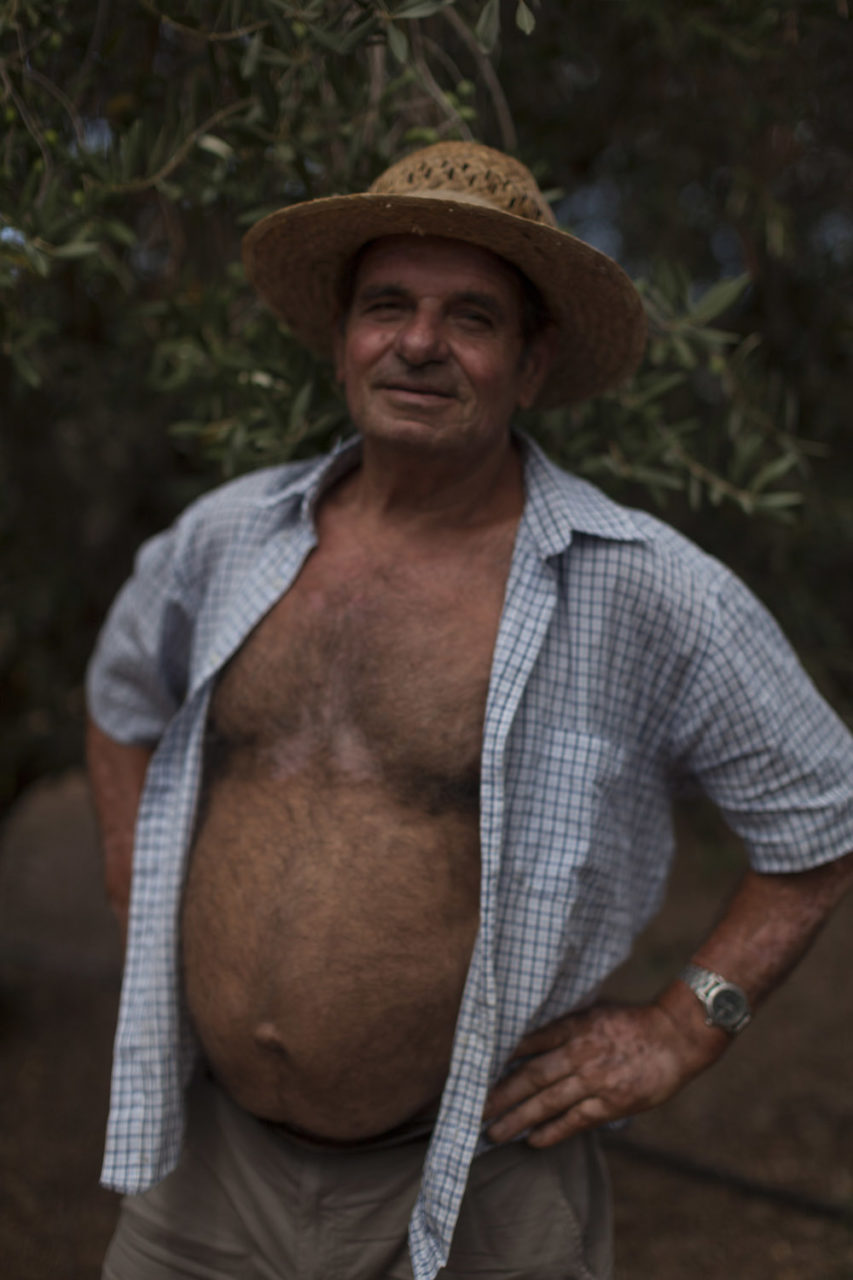 Pasquale Lombardo, farmer and olive grower in the countryside of Felline, in Salento. (2019)