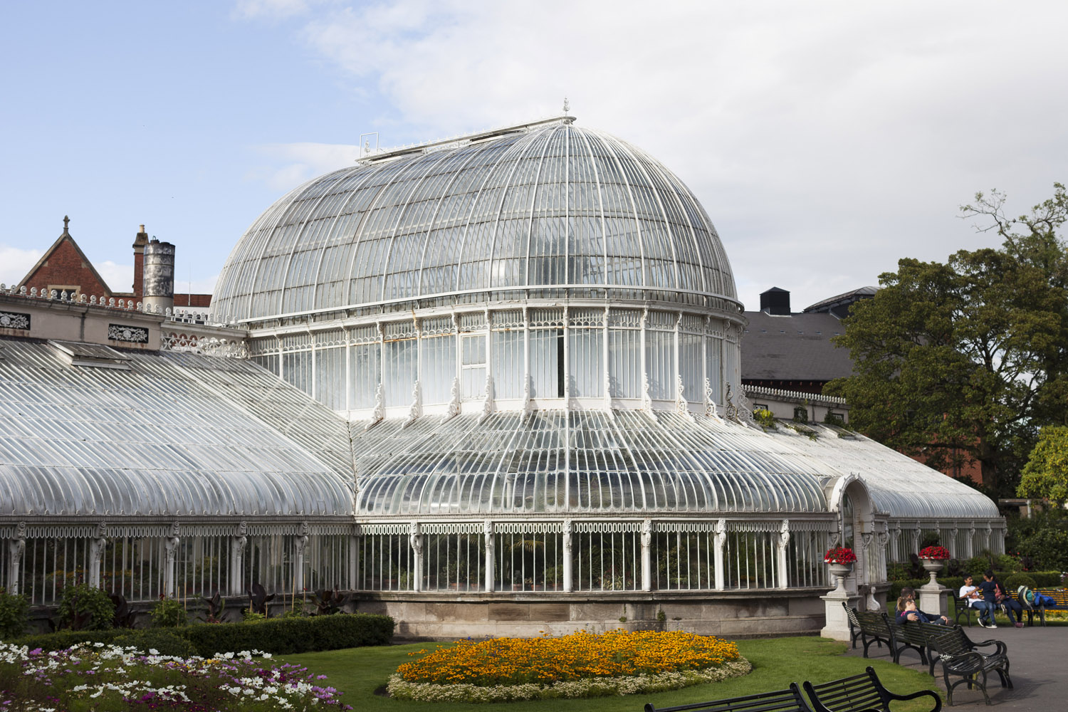 The Botanic Gardens of Belfast, in the  Queen's Quarter, not far from Queen's University.